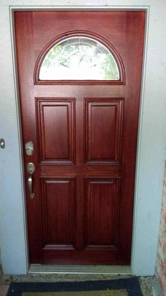 Old Exterior Oak Door Gel Stain Process Paint Talk