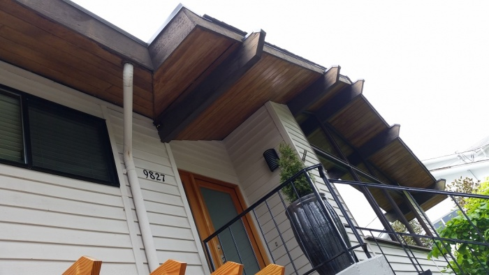 stained wood soffits best way for application paint talk