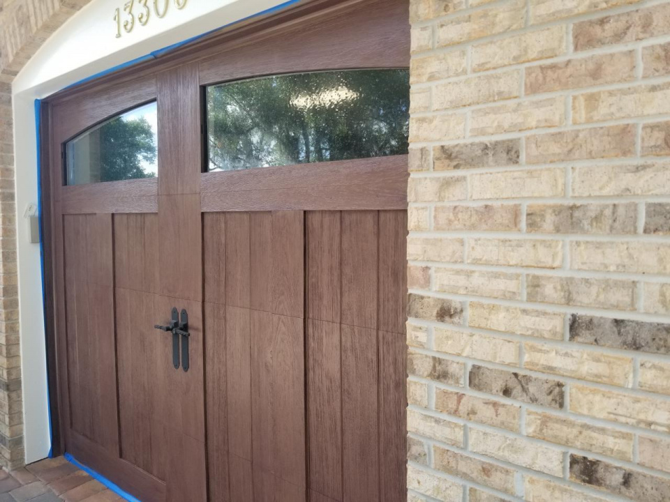 Clopay garage doors I recently did a faux wood finish on-20190408_101304_1554994866307.jpg