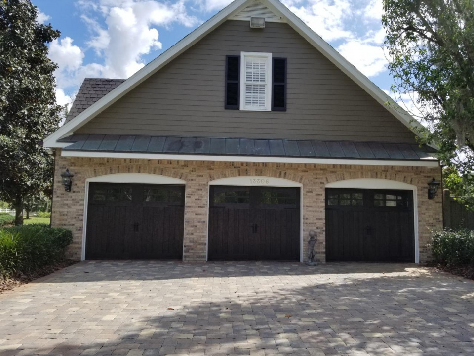 Clopay garage doors I recently did a faux wood finish on-20190410_153533_1554995279521.jpg