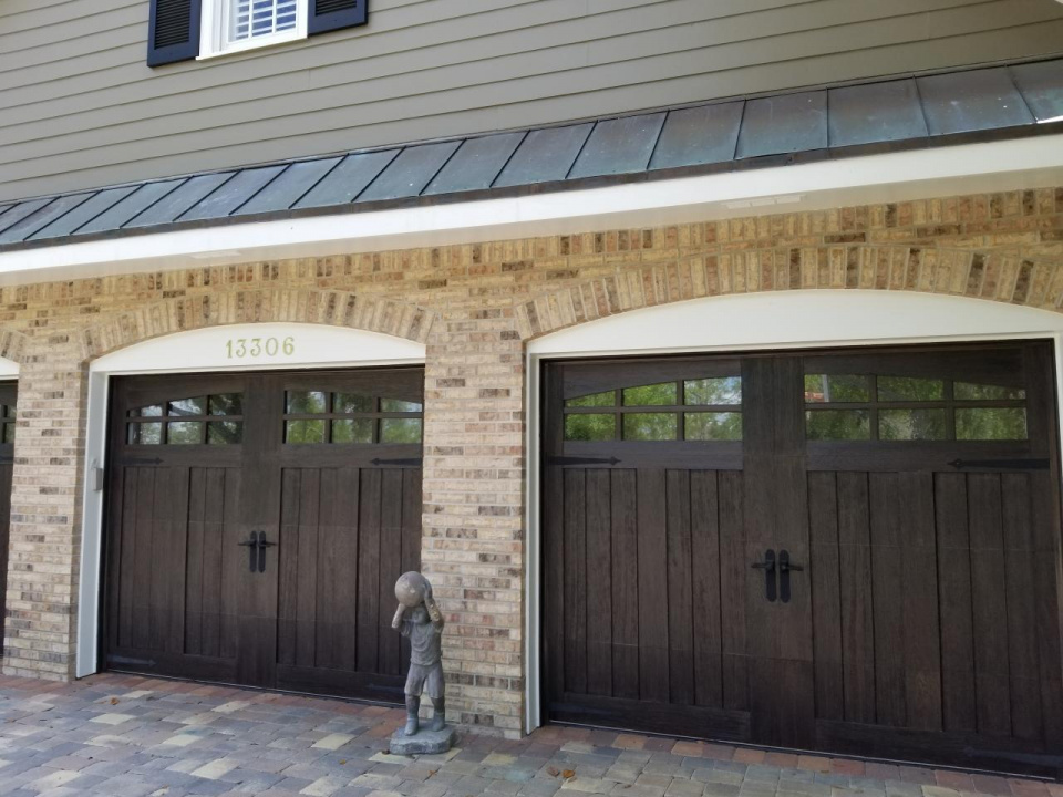 Clopay garage doors I recently did a faux wood finish on-20190410_153544_1554995355957.jpg