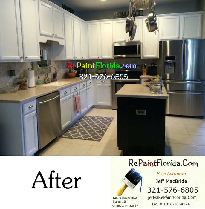 Kitchen Cabinet Painting In Orlando Fl After