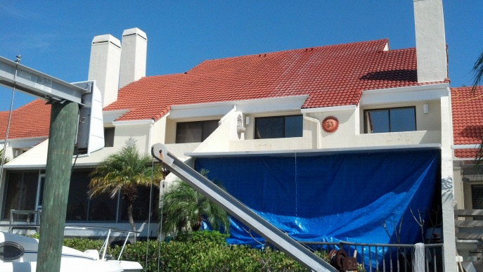 How not to kill lawn and plants with cleaners?-cleaning-condo-roof-peerless.jpg