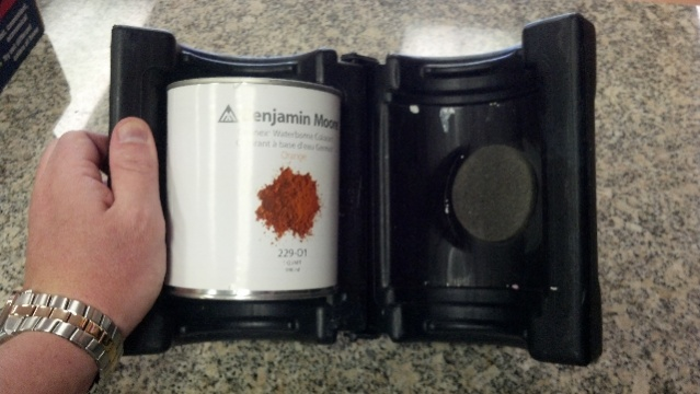 1 quart custom adapter for 1 gallon paint