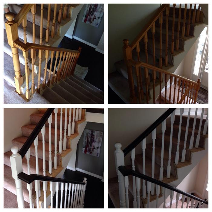 Darkening a stained railing-image-1085614940.jpg