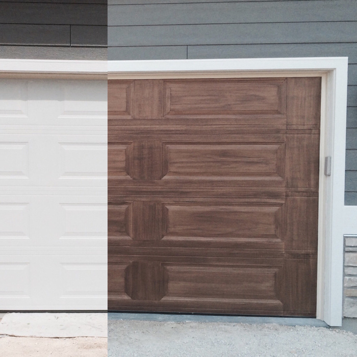 Clear 4 Faux wood grain garage door-image-2578551209.jpg