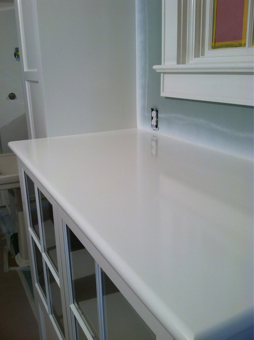 really like the Advance for cabinets Here's a job I did last spring