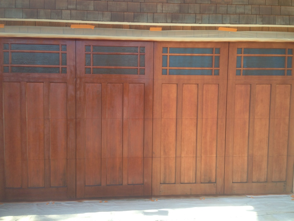 Mahogany Garage Door Refinish Using General Finishes Img_2732