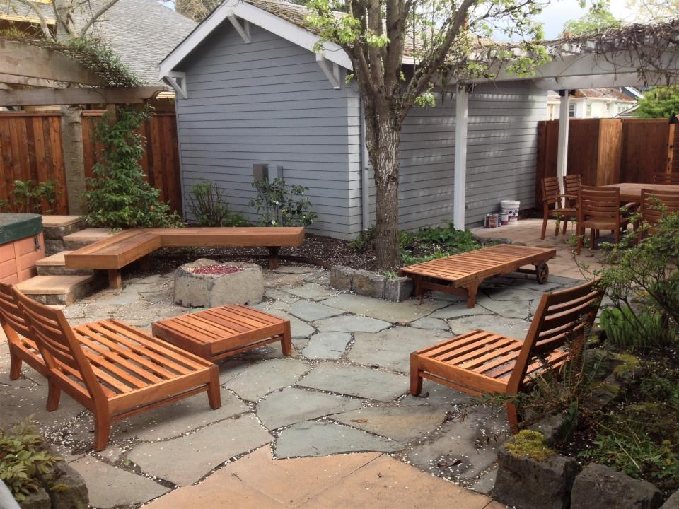 Teak Patio Furniture Cedar Fence Strip Stain Paint Talk