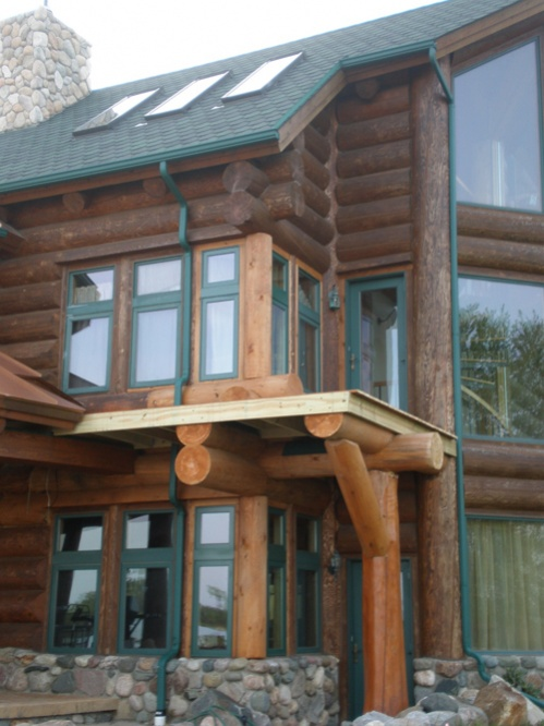 Questions about stain on log home-log-home.jpg
