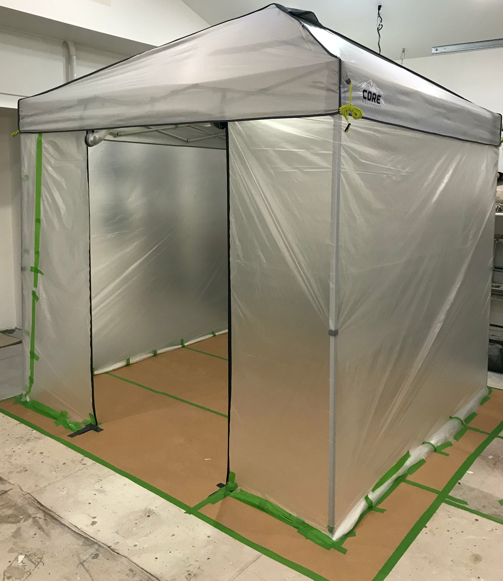pop up paint booth professional